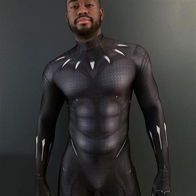 Feb, 2019's top guy Darion wearing Animal suits black panther